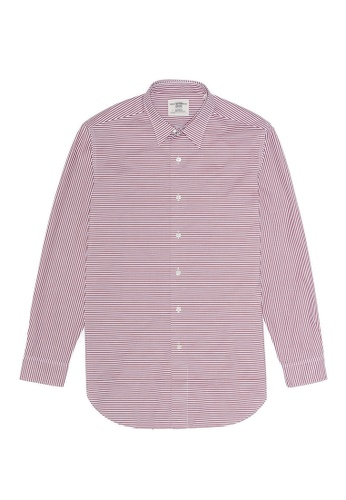 Kent and Curwen Allover Stripe Button-Up Shirt 0233AAA24BCD69GS_1