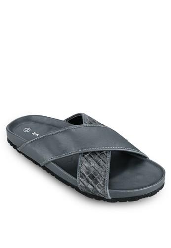 仿皮交zalora 評價叉帶涼鞋, 鞋, 拖鞋