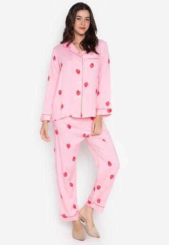 FEMINISM pink Longsleeve PJ Set DC33BAA3C5BF0BGS_1