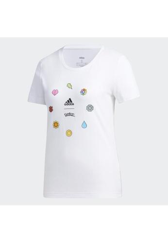 ADIDAS white adidas Pokémon Kanto Badges Tee 4556BAA83B1DC8GS_1