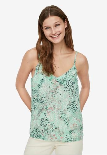 Vero Moda green Singlet Top B7034AA4E17C1DGS_1