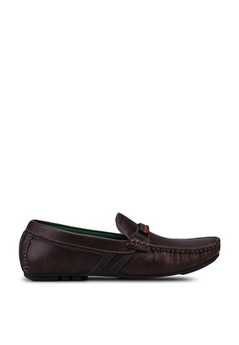 Louis Cuppers brown Casual Horsebit Loafers C8B9ASH4B80DB5GS_1