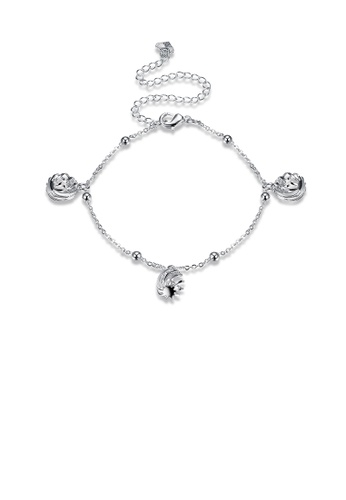 Glamorousky silver Fashion Simple Lantern Anklet CE4DAAC1BB3ECBGS_1