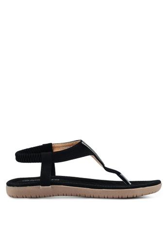 Mimosa black V Embellished Sandals CA887SH81652DEGS_1