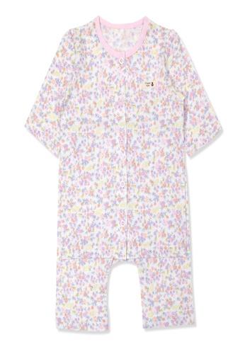 Organic mom purple Organic Cotton Iris Floral 3/4 Sleeves Pjs 02F67KA9916D77GS_1