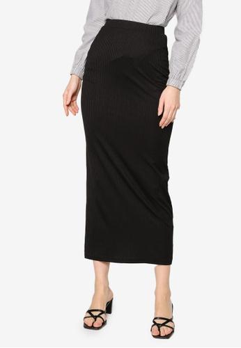 ZALIA BASICS black Basic Knit Skirt 843BDAA3565456GS_1