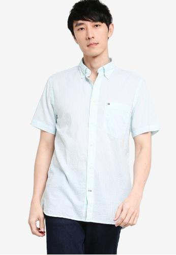 Tommy Hilfiger blue Classic Seersucker Stp Shirt 9735CAA687DF69GS_1