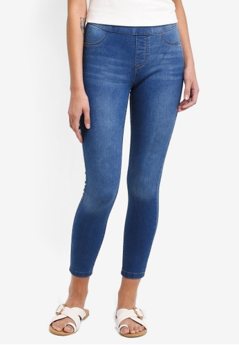 Dorothy Perkins blue Petite Midwash Eden Jeggings AA1FEAA58E63AAGS_1