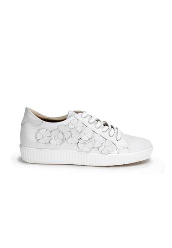 Shu Talk 白色 歐洲製造花花軟牛皮舒適輕便波鞋 5BB8FSH05838A7GS_1