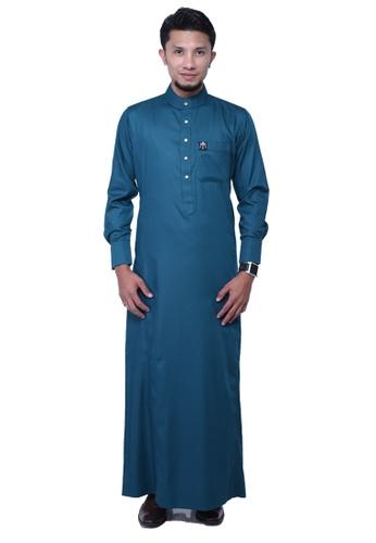 Maribeli Butik blue MB Man Zulqarnain Cyan Green MA905AA60BTZMY_1