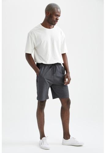 DeFacto 灰色 Slim Fit Short 61BB9AAA3C5C6FGS_1