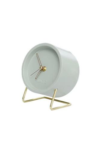 DILAS HOME Faceless Alarm Clock with Golden Stand (Mint Green) 7E937HL66C77E2GS_1