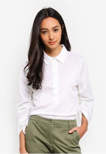 Sisley white Long Sleeves Shirt B319DAA90978D4GS_1