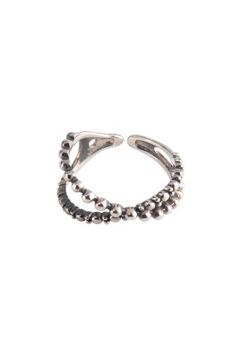 OrBeing 白色 Premium S925 Sliver Geometric Ring 5BAA2AC5F36268GS_1