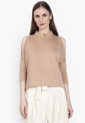 CLN beige Synergy Blouse 6D956AAC4654D5GS_1