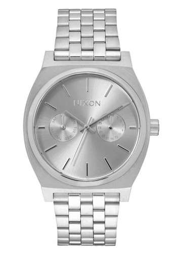 NIXON Time Teller Deluxe All Silver Jam Tangan Pria A9221920 - Stainless Steel - Silver