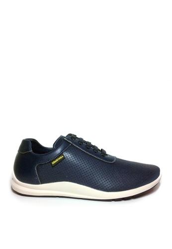 SEMBONIA blue SEMBONIA Men Microfiber Sneaker (Dark Blue) 951FDSH036C192GS_1