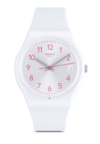 Swatch white Pearlazing Watch EB535AC4C5253AGS_1