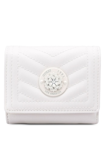 GUESS white Lida Sling Small Trifold Wallet BCC38ACF8C4E22GS_1