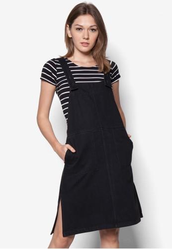 吊帶丹zalora taiwan 時尚購物網鞋子寧連身裙, 服飾, 服飾