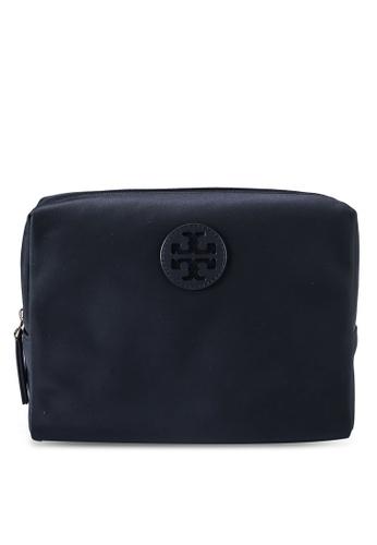 TORY BURCH black Medium Nylon Cosmetic Case (NT) F67ACAC09EBD67GS_1