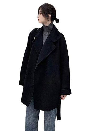 Sunnydaysweety black Hepburn Style Long Woolen Coat A102202BK 813D3AADBA4C27GS_1