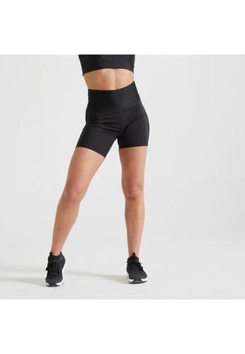 Decathlon DOMYOS Fitness Shaping High-Waist Shorts - 8576738 C5CAAAAD9E53B1GS_1