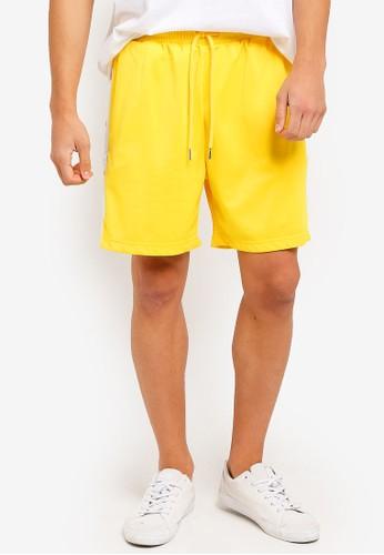 Factorie yellow Snap Shorts 37DBEAA7D03A48GS_1