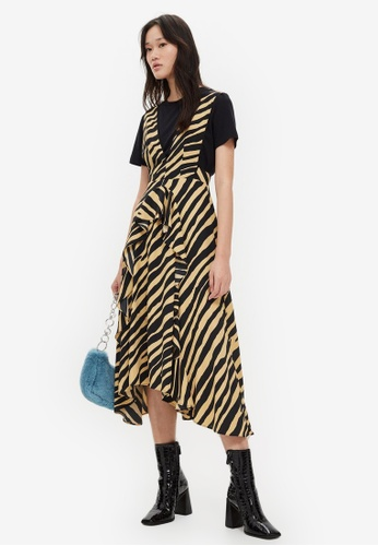 f498f9fe09 Shop TOPSHOP Zebra Print Pinafore Dress Online on ZALORA Philippines
