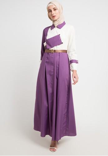 VENDRE purple and multi Kaysa Dress 1F347AA895688EGS_1