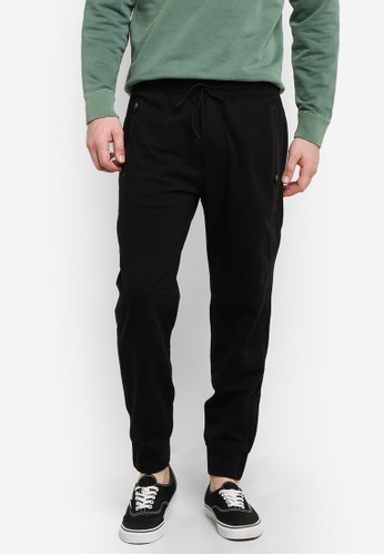 Abercrombie & Fitch black Stretch Jogger Pants AB423AA0RDNPMY_1