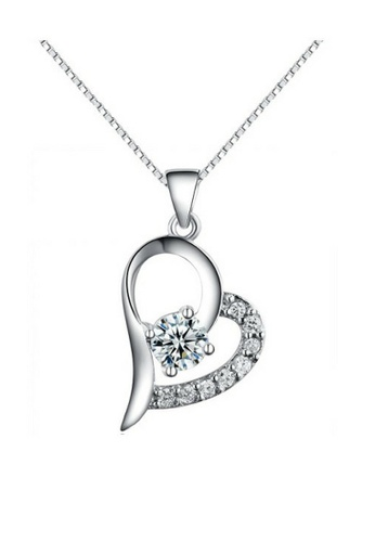 Vivere Rosse silver Tender Heart Necklace VI014AC75BGUMY_1