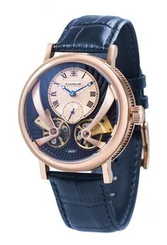Thomas Earnshaw Men's Genuine Leather Strap Watch - ES-8059-05