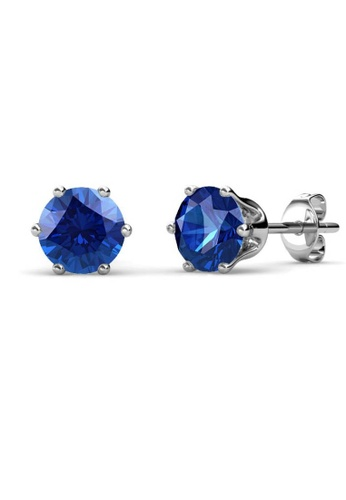 Her Jewellery blue Birth Stone Earrings (September, White Gold) - Made with premium grade crystals from Austria 29826ACE313DBFGS_1
