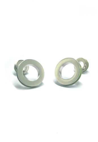Splice Cufflinks green and silver Green Hoop Cufflinks  SP744AC73EEKSG_1