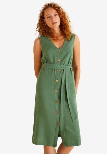Mango green Textured Shift Dress 5A0ABAA470BE42GS_1