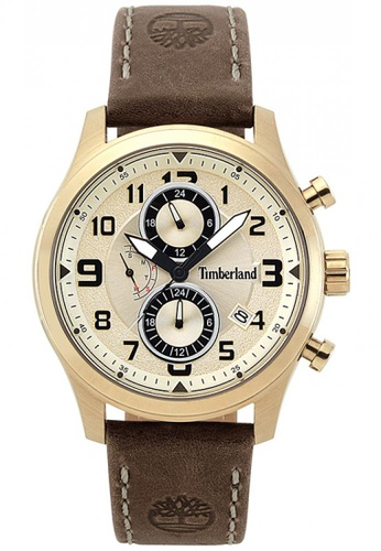 Timberland brown Timberland Groveton Dark Brown  44 mm Men's Watches (TBL.15357JSK/07) 58E15AC67D3A48GS_1