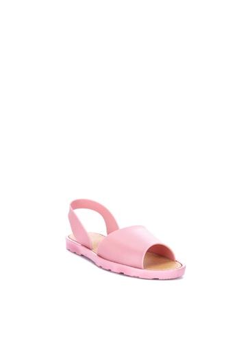 Reva pink Jacey Flat Sandals 38EE7SH500A8E8GS_1