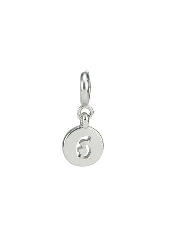 My Flash Trash silver Silver number 6 charm ED8A0ACE9F0F57GS_1