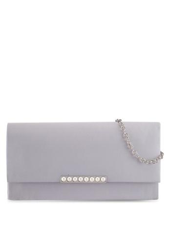 Dorothy Perkins grey Grey Pearl Bar Clutch Bag 0534CAC3E7A03AGS_1