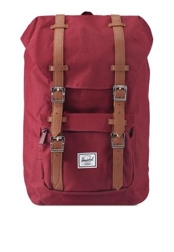 Herschel red Little America Mid-Volume Backpack B4754AC1C5A7D8GS_1