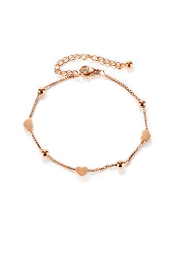 CELOVIS gold CELOVIS - Lovett Dainty Heart Pendant Bracelet in Rose Gold 2F9E0AC95195D3GS_1