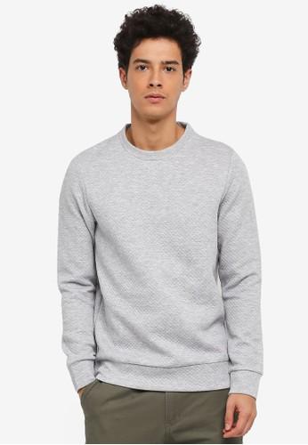 Jack & Jones grey Wallet Crew Neck Sweatshirt 021D1AA78D53C5GS_1