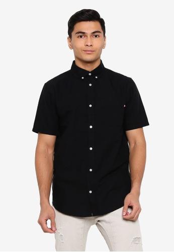 Cotton On black Vintage Prep Short Sleeve Shirt CBFBCAAA94FB04GS_1