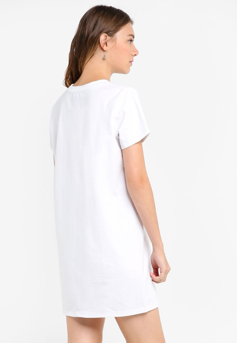 White Tee Something Dress Fringe Borrowed Lace xZ1RfwZ