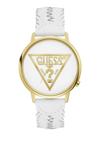 Guess Watches white and gold Originals Watch V1001M4 2BA5CACCD7AA51GS_1