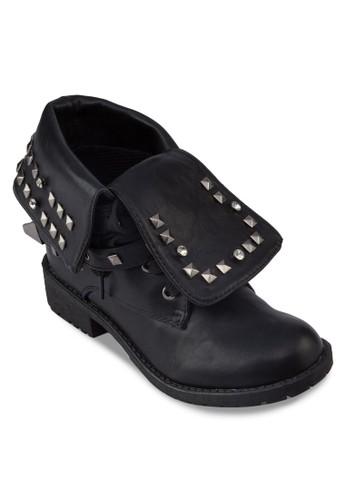 翻筒鉚釘踝靴,esprit台灣outlet 女鞋, 鞋