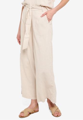 Mink Pink beige Culotte Trousers 4F520AAB1444D9GS_1