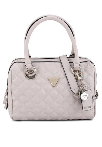 GUESS grey Cessily Box Satchel Bag 07707AC3CC6F3DGS_1