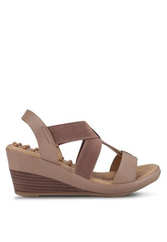 Bata brown Comfit Wedge Sandals BA156SH0RCV9MY_1